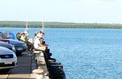 Fishing from Darwin Wharf