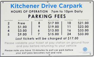 Kitchener Car Park Prices