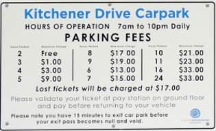 Kitchener Car Park Prices