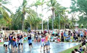 dancing at the seabreeze festival