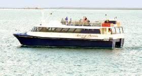 Spirit of Darwin on an evening cruise