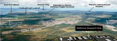 aerial photo of darwin and port