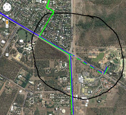 map of bus extensions to Crocodylus Park