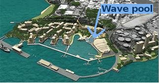 location of new Darwin Wave Pool