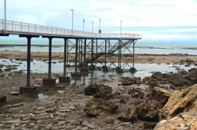 low tide at nightcliff jetty