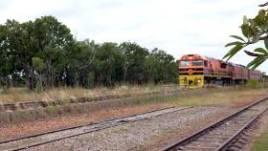 Modern freight train approaches