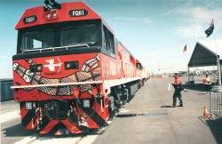 Ghan train at Darwin port