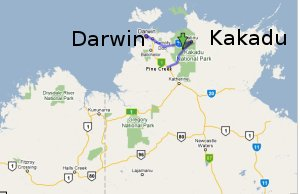 Kakadu Location Map