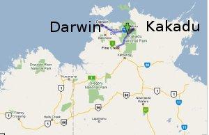 Map Darwin Australia.Kakadu Maps