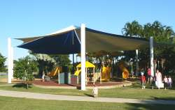 Lake Alexander shaded childrens playground