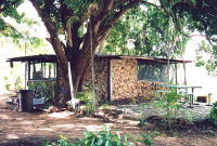 Mango farm stone cabin