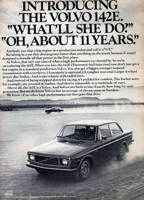 Volvo boasts an 11 year life in 1971