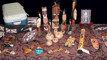 Aboriginal art and carvings