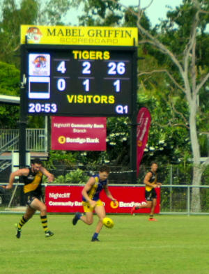 Nightcliff and Wanderers playing at Nightcliff Oval