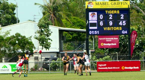 Womens football at Nightcliff Oval