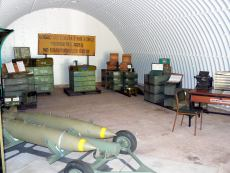 Display inside ammunition bunker
