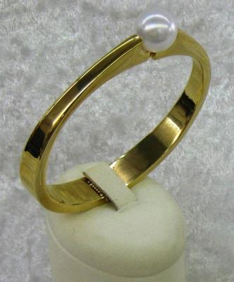 Italian Hinged Mother of Pearl Bracelet