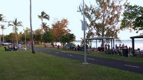 Evening on the beach boulevard.