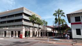 View of mall across Bennett St