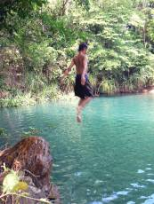Jumping into water, Berry Springs