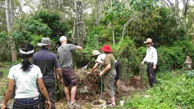 Building a biodynamic compost heap