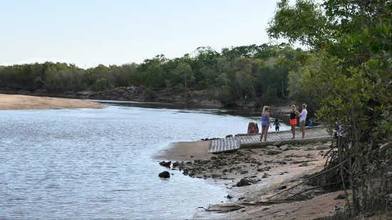 Buffalo creek Boat ramp at a low tide
