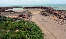 Nightcliff ramp at low Tide