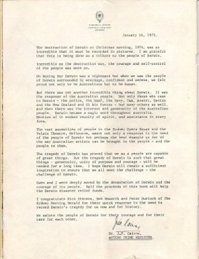 Dr Jim Cairns Letter