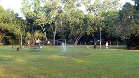 Play ground and BBQ area