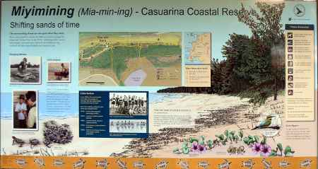 Casuarina beach information board
