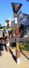 Cerimonial Poles at Government house