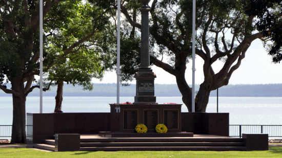 Darwin Cenotaph overlooking Darwin Harbour