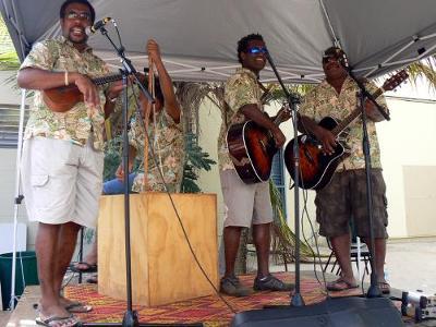 Singing at Fridge Festival