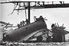 Bombing damage at Parap Airfield