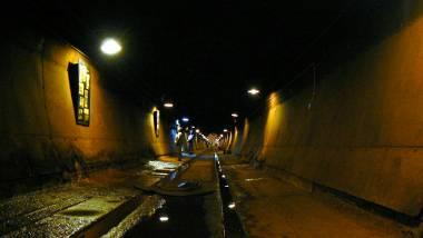 Inside a storage tunnel