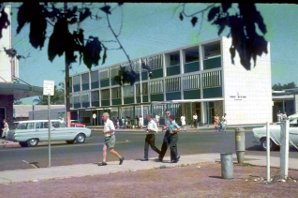 Darwin street scene sometime during the 1960's