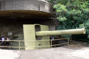 Gun turrent at East Point Museum