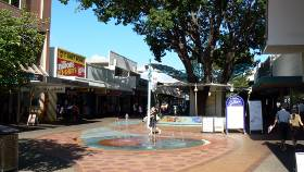 Midway down the Darwin Mall