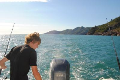 Trolling for Mackeral off Magnetic Island.