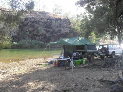 4WDing in the bush at Dalbeg.