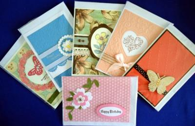 Individually wrapped handmade Gift Cards