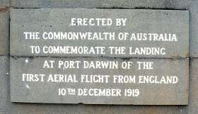 first flight from England memorial