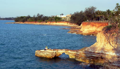 Red sandstone cliffs at Nightcliff