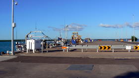 Wharf loading and access for working boats
