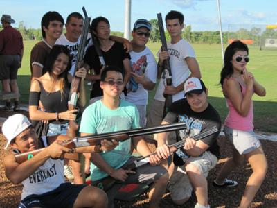 Shoot Up Darwin (leagally) - Great Group Fun with Laser Clay Shooting!