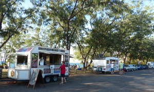 Hamburgers at Nightcliff Jetty
