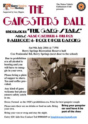 Remember the Gangster Ball @ Berry Springs