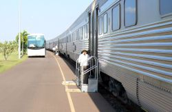 Boarding the Ghan