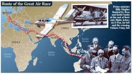 Map of great Air Race Route