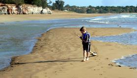 Incoming tide at Casuarina Beach.